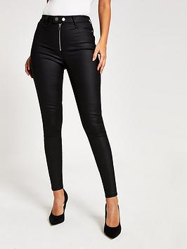 river-island-river-island-double-button-zip-hailey-coated-jean-black