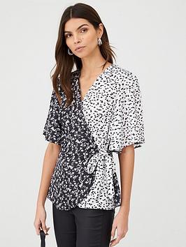 v-by-very-wrap-mono-mix-print-blouse-print