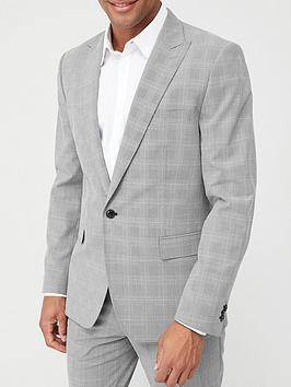 V by Very V By Very Check Suit Jacket - Grey Picture