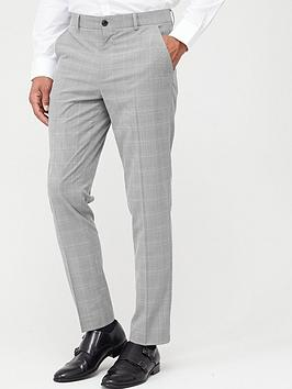 V by Very V By Very Checked Suit Trousers - Grey Picture