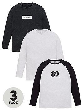 v-by-very-boys-3-pack-long-sleeve-waffle-acid-wash-89-print-t-shirts-multi