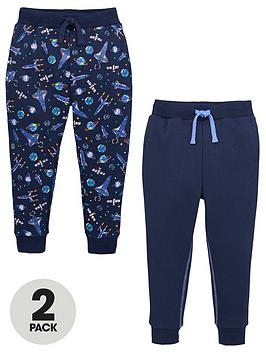 V by Very V By Very Boys 2 Pack Spaceship And Plain Joggers - Navy Picture