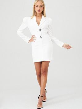 River Island River Island Blazer Tux Dress- White Picture