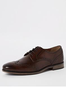 river-island-dark-brown-leather-lace-up-brogues