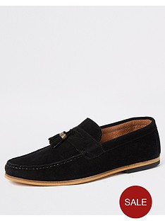 river-island-black-suede-tassel-wide-fit-loafers