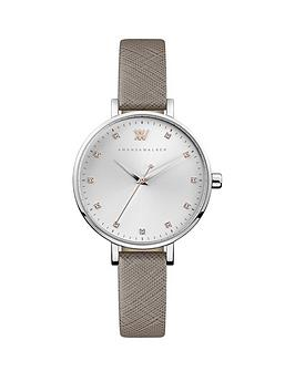 Amanda Walker Amanda Walker Amanda Walker Florence Silver Crystal Set Dial  ... Picture