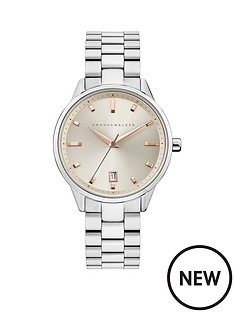 amanda-walker-amanda-walker-amelia-champagne-sunray-and-rose-gold-detail-date-dial-stainless-steel-bracelet-ladies-watch
