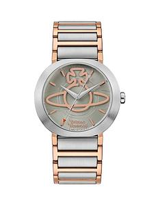 vivienne-westwood-vivienne-westwood-clerkenwell-soft-green-and-rose-gold-orb-dial-two-tone-stainless-steel-h-link-bracelet-watch