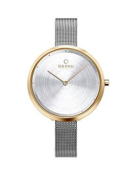 obaku-obaku-dok-silver-sunray-and-gold-plated-ultra-slim-dial-stainless-steel-mesh-strap-ladies-watch