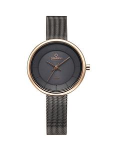 obaku-obaku-lys-grey-and-rose-gold-detail-stepped-solar-dial-gunmetal-grey-stainless-steel-mesh-strap-ladies-watch