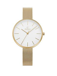 obaku-obaku-mynte-white-dial-gold-stainless-steel-mesh-strap-ladies-watch