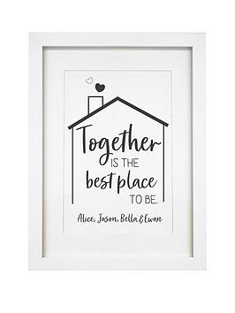 Very Personalised Best Place To Be A4 Framed Print Picture