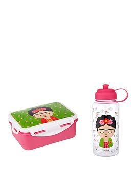 Sass & Belle Sass & Belle Frida Kahlo Lunch Box And Waterbottle Picture