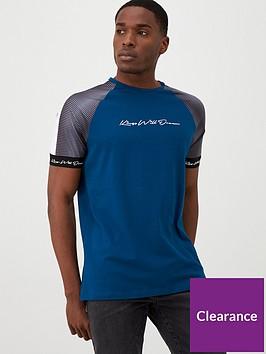 kings-will-dream-manse-geo-sleeve-t-shirt-teal