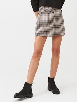 Warehouse  Dogstooth Pocket Pelmet Skirt - Multi