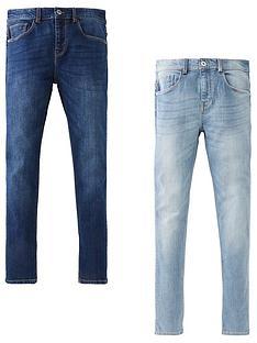 v-by-very-boys-2-pack-skinny-jeans-bleach-washdark-wash