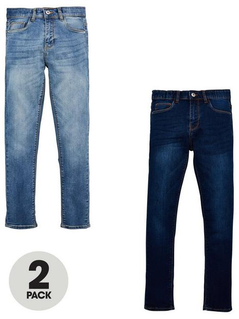 v-by-very-boys-2-pack-skinny-jeans-bleachnbspdark-wash