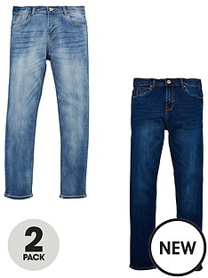 v-by-very-boys-2-pack-slim-jeans-bleach-washdark-wash