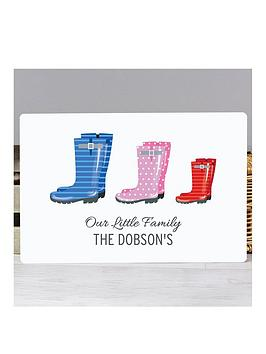 Very Personalised Family Wellies Print Picture