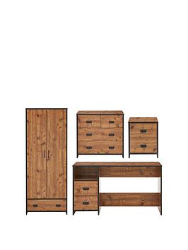 Very Jackson 4 Piece Package - Kids 2 Door, 1 Drawer Wardrobe, 2+2 Drawer  ... Picture
