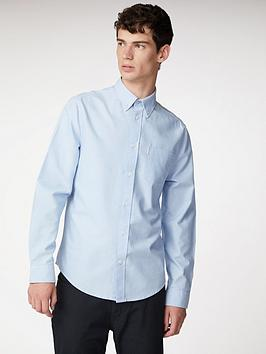 Ben Sherman Ben Sherman Long Sleeve Oxford Shirt - Blue Shadow Picture
