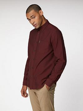 Ben Sherman Ben Sherman Ben Sherman Long Sleeve Oxford Shirt-Brown Picture