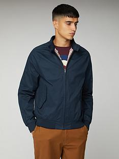 ben-sherman-harrington-jacket-navy