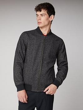 ben-sherman-herringbone-bomber-coffee