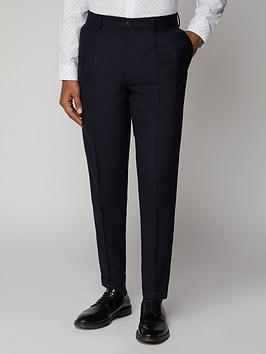 Ben Sherman   Structure Suit Trousers - British Navy