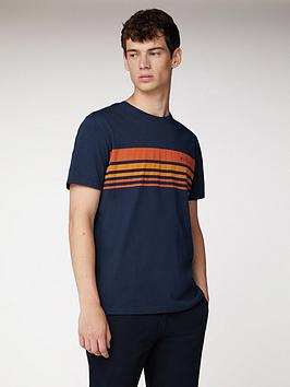 Ben Sherman Ben Sherman Tipped Chest Print T-Shirt - Navy Picture