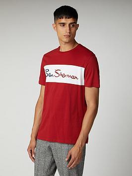 Ben Sherman Ben Sherman Cut And Sew Branded T-Shirt - Bordeaux Picture