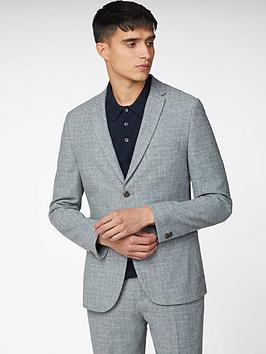 Ben Sherman Ben Sherman Broken Check Suit Jacket - Light Grey Picture
