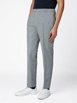 Ben Sherman   Broken Check Trouser - Light Grey