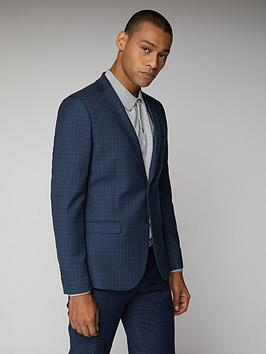 Ben Sherman Ben Sherman Micro Check Mod Suit Jacket - Blue Picture
