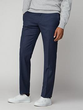Ben Sherman   Micro Check Mod Trouser - Blue