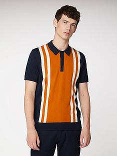 ben-sherman-mod-striped-polo-shirt-dark-navy