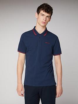 Ben Sherman Ben Sherman Classic Tipped Polo Shirt - Dark Navy Picture