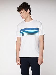 ben-sherman-striped-chest-print-t-shirt-white