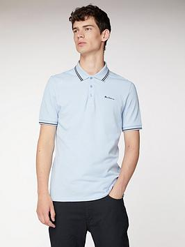 Ben Sherman Ben Sherman Ben Sherman Classic Tipped Polo-Angel Blue Picture