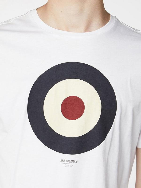 Tía moverse contraste  Ben Sherman Target T-Shirt - White | littlewoods.com