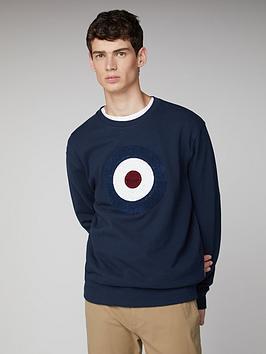 Ben Sherman Ben Sherman Boucle Target Sweatshirt - Dark Blue Picture