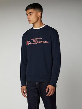Ben Sherman Ben Sherman Logo Sweatshirt - Navy Picture