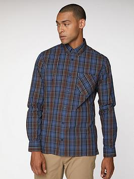 Ben Sherman Ben Sherman Long Sleeve Tartan Check - Red/Blue Picture