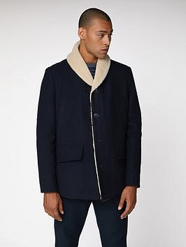Ben Sherman Ben Sherman Heavyweight Shawl Collar Coat - Navy Blue Picture