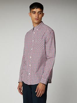 Ben Sherman Ben Sherman Ben Sherman Long Sleeve House Check-Dk Blue Picture