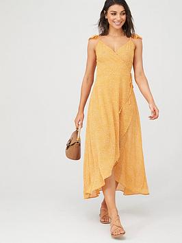 v-by-very-dipped-hem-wrap-woven-sheer-beachnbspcover-up-spot-print