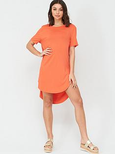 v-by-very-cowl-back-longline-t-shirt-beachnbspcover-up-coral