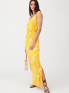 v-by-very-channel-waist-jersey-beachnbspmaxi-dress-yellow-floral