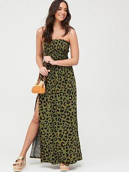 V By Very Bandeau Maxi Dress - Print