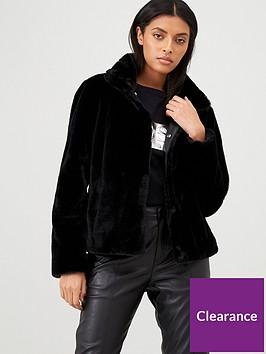 hugo-faux-fur-coat-black